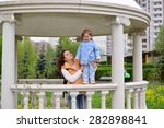 mom and daughter 2.5 years for... | Shutterstock . vector #282898841
