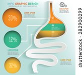 stomach info graphic design ... | Shutterstock .eps vector #282900299
