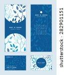 vector blue forest vertical... | Shutterstock .eps vector #282901151