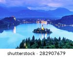 Aerial View Of Lake Bled ...