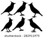 lark silhouette collection  | Shutterstock .eps vector #282911975