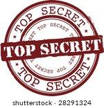 vector top secret stamp with... | Shutterstock .eps vector #28291324