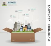 infographic business concept.... | Shutterstock .eps vector #282913901