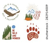 set of wilderness hand drawn... | Shutterstock .eps vector #282914009