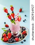 fresh healthy strawberry and... | Shutterstock . vector #282914927