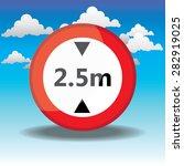 traffic circle shaped maximum... | Shutterstock . vector #282919025