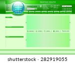 website template in editable... | Shutterstock .eps vector #282919055
