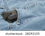 Wallet Emerging from Pants - stock photo