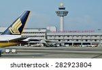 changi  singapore  14 january... | Shutterstock . vector #282923804