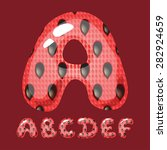 watermelon letters. part 1....   Shutterstock .eps vector #282924659