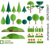 vector set of nature icons in a ... | Shutterstock .eps vector #282925847