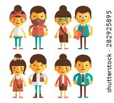 vector set of characters in a... | Shutterstock .eps vector #282925895