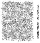 ethnic floral zentangle  doodle ... | Shutterstock .eps vector #282926861