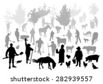 silhouettes of people and... | Shutterstock .eps vector #282939557
