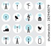 antenna icon set | Shutterstock .eps vector #282940079