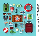 flat design icons set of... | Shutterstock .eps vector #282941069