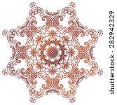 ethnic mehndi circular floral... | Shutterstock .eps vector #282942329