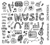 hand drawn collection with... | Shutterstock .eps vector #282945041