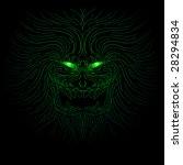 green eyed demonic monster in... | Shutterstock .eps vector #28294834