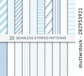 set of vector seamless striped... | Shutterstock .eps vector #282953921