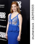 jessica chastain at the los...   Shutterstock . vector #282955055