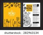 cafe menu restaurant brochure.... | Shutterstock .eps vector #282963134