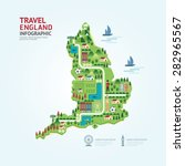 infographic travel and landmark ... | Shutterstock .eps vector #282965567