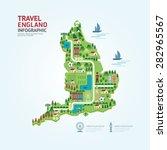 infographic travel and landmark ... | Shutterstock .eps vector #282965567