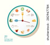infographic watch and flat... | Shutterstock .eps vector #282967784