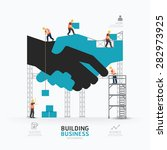 infographic business handshake... | Shutterstock .eps vector #282973925