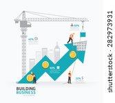 infographic business arrow... | Shutterstock .eps vector #282973931