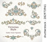 vector set of vintage vignettes ... | Shutterstock .eps vector #282973961