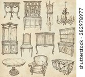 furniture   collection  no.1 ... | Shutterstock . vector #282978977