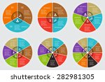 vector circle elements set for... | Shutterstock .eps vector #282981305