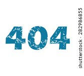 grunge blue icon with text 404  ...
