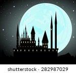 halloween vector background... | Shutterstock .eps vector #282987029
