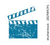 grunge blue icon with image of...