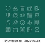 thin lines icons set of various ...