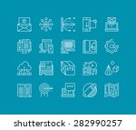thin lines icons set of... | Shutterstock .eps vector #282990257