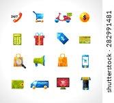 e commerce online shopping and... | Shutterstock .eps vector #282991481