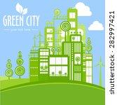 green city illustration of... | Shutterstock .eps vector #282997421