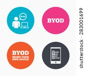circle buttons. byod icons.... | Shutterstock .eps vector #283001699
