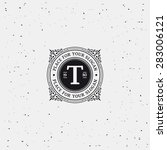 simple monogram design template ... | Shutterstock .eps vector #283006121