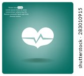heart beat rate icon  fitness... | Shutterstock .eps vector #283010915