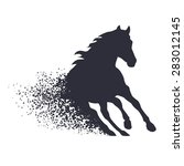 running horse in the grunge... | Shutterstock . vector #283012145