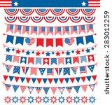 usa celebration buntings... | Shutterstock .eps vector #283012259