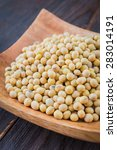 soy beans on wooden background  ... | Shutterstock . vector #283014191
