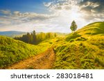 early morning in a carpathian... | Shutterstock . vector #283018481