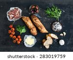 ingredients for sandwich with... | Shutterstock . vector #283019759
