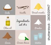 ingredients set  2. soda ... | Shutterstock .eps vector #283020947